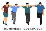 a greek evzone dancing group... | Shutterstock .eps vector #1014397924