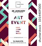 the exhibition art flayer ... | Shutterstock .eps vector #1014409300