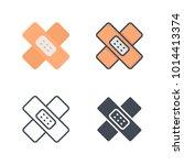 skin plaster medicine vector... | Shutterstock .eps vector #1014413374