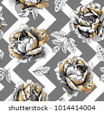 floral seamless pattern with...   Shutterstock .eps vector #1014414004