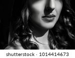 beauty woman face. portrait of... | Shutterstock . vector #1014414673