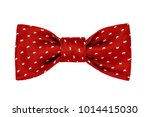 fashionable red bow tie with... | Shutterstock . vector #1014415030