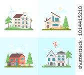 nice buildings   set of modern... | Shutterstock .eps vector #1014415210