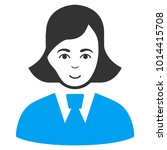 clerk lady vector icon. style... | Shutterstock .eps vector #1014415708