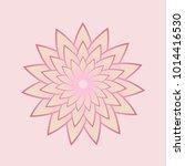 lotus flower on colorful back | Shutterstock .eps vector #1014416530