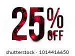 25  off discount promotion sale ... | Shutterstock . vector #1014416650