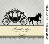 vintage luxury carriage  1  | Shutterstock .eps vector #101441983