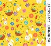 a vector illustration of easter ... | Shutterstock .eps vector #1014421768