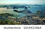 aerial panorama and sugar loaf... | Shutterstock . vector #1014421864