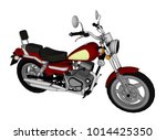 small red classic chopper look. ... | Shutterstock .eps vector #1014425350