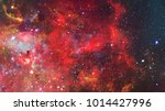 nebula and galaxies in dark... | Shutterstock . vector #1014427996