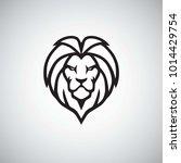 lion head logo simple vector   Shutterstock .eps vector #1014429754