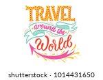 travel around the world on... | Shutterstock .eps vector #1014431650