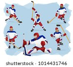 a set of team russia ice hockey ... | Shutterstock .eps vector #1014431746