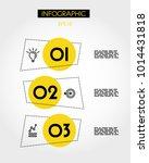 three yellow info rectangular... | Shutterstock .eps vector #1014431818