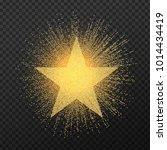 golden star stipple effect... | Shutterstock .eps vector #1014434419