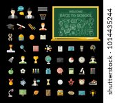 education icon set in flat... | Shutterstock .eps vector #1014435244