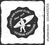 canoe and kayak club badge....   Shutterstock .eps vector #1014435253