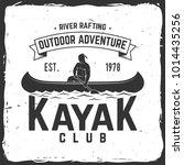 kayak club. vector illustration....   Shutterstock .eps vector #1014435256