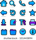 internet browsing icons set | Shutterstock . vector #101443894