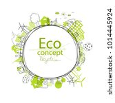 environmentally friendly world.... | Shutterstock .eps vector #1014445924