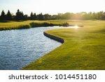 Beautiful Green Golf Field Wit...