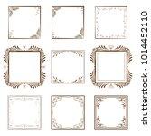 set for the design of... | Shutterstock .eps vector #1014452110