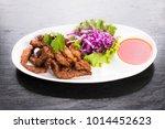 thai sun dried pork with chili... | Shutterstock . vector #1014452623