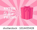 enter to win prizes gift box.... | Shutterstock .eps vector #1014455428