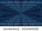 beautiful abstract surreality... | Shutterstock . vector #1014461020