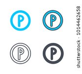 park sign service icon | Shutterstock .eps vector #1014462658