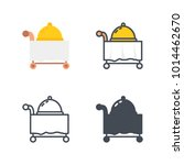 room service dinner service icon | Shutterstock .eps vector #1014462670