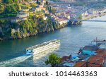 cruise ship arrives to porto by ...   Shutterstock . vector #1014463363