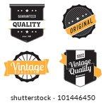 vintage premium labels | Shutterstock .eps vector #101446450