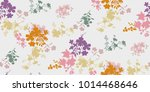 seamless floral pattern in... | Shutterstock .eps vector #1014468646