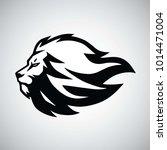 lion head logo vector   Shutterstock .eps vector #1014471004