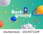 vector background with bright... | Shutterstock .eps vector #1014471109