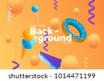 vector background with bright... | Shutterstock .eps vector #1014471199