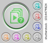 unknown playlist color icons on ... | Shutterstock .eps vector #1014479824