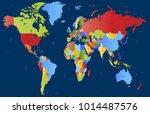 color world map vector | Shutterstock .eps vector #1014487576