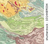 vintage contour mapping.... | Shutterstock . vector #1014489034
