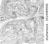 vintage contour mapping.... | Shutterstock . vector #1014489040