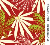 tropical seamless pattern with... | Shutterstock .eps vector #1014489988