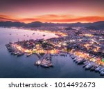 aerial view of boats and... | Shutterstock . vector #1014492673
