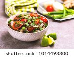 traditional indian cuisine.... | Shutterstock . vector #1014493300