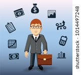 business man and icon business... | Shutterstock .eps vector #1014497248
