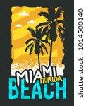 miami beach florida summer... | Shutterstock .eps vector #1014500140
