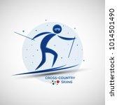 cross country skiing... | Shutterstock .eps vector #1014501490