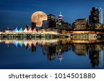 Vancouver Night Full Moon From...