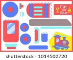 cut and glue the paper train....   Shutterstock .eps vector #1014502720
